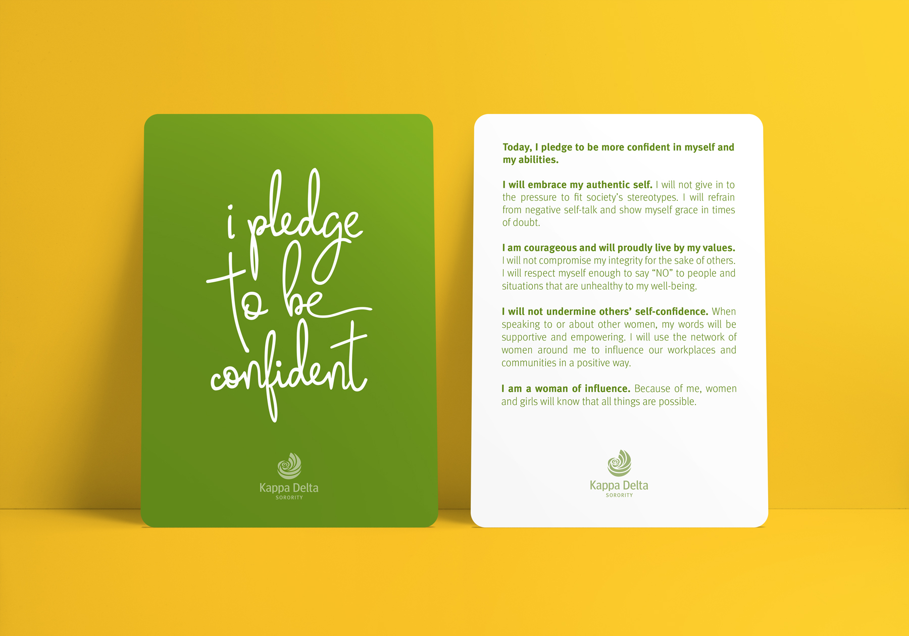 I pledge to be confident postcard design download