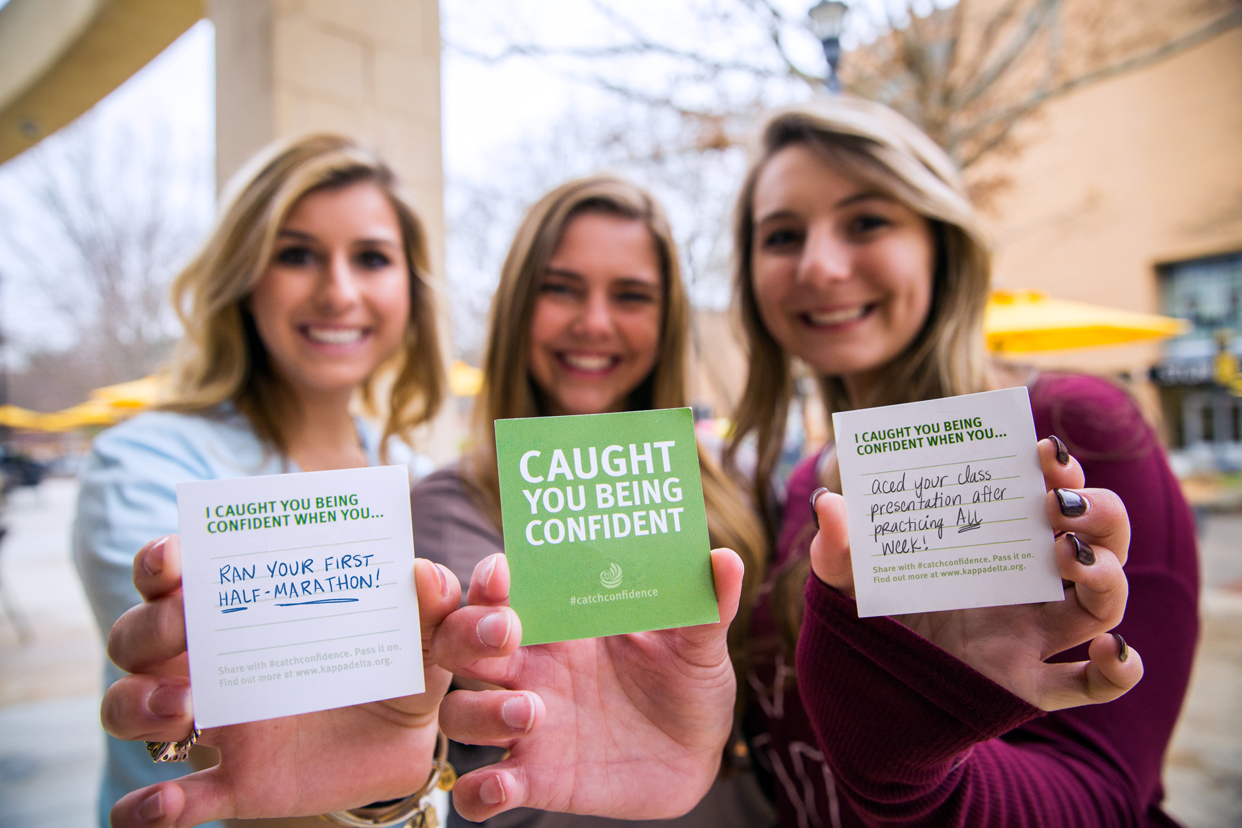 caught you being confident business cards with messages