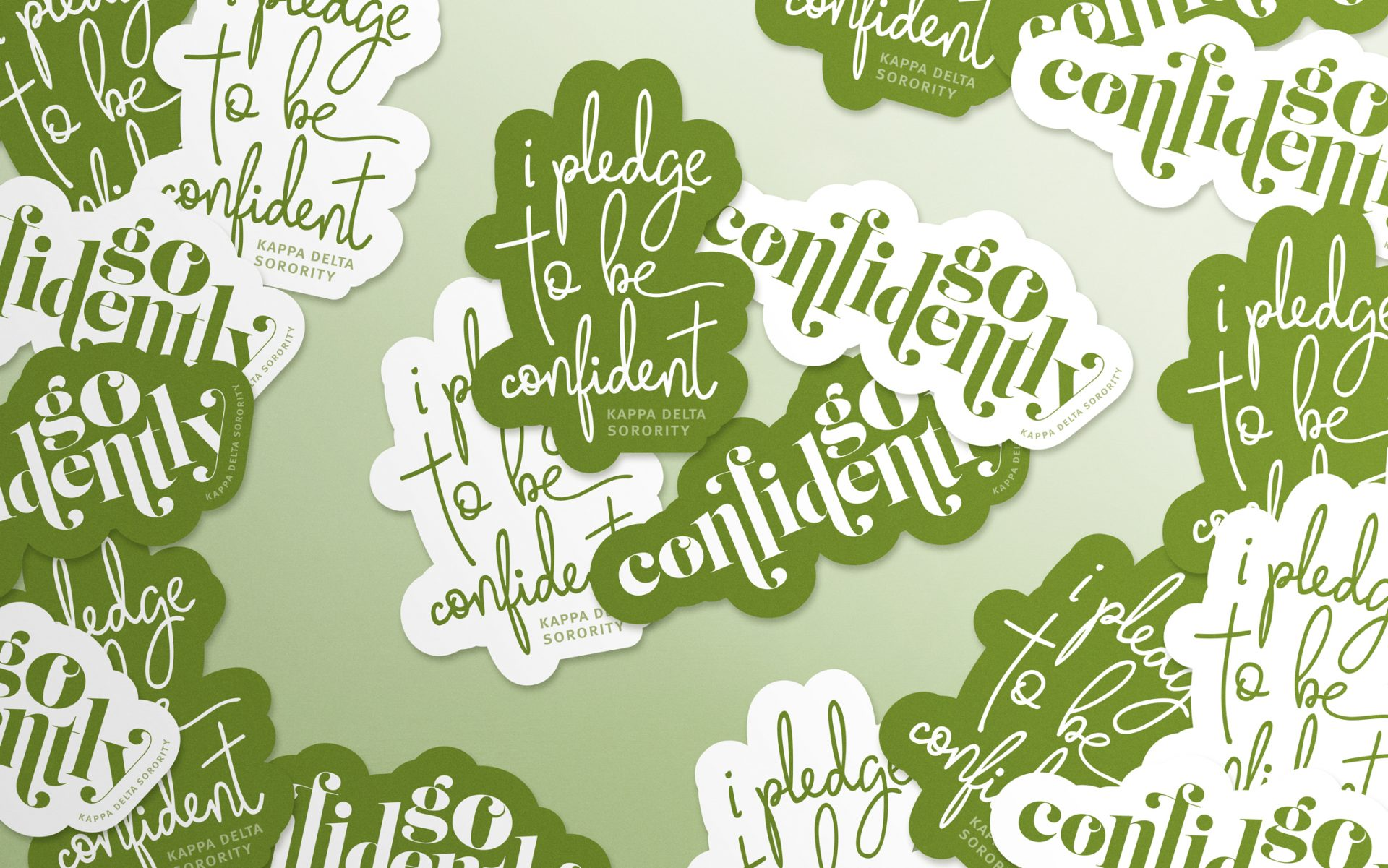 i pledge to be confident go confidently die cut sticker designs